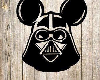 Darth Vader Mickey Mouse SVG PNG GSP desing, instant download
