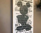 Disney Quotes Planked wood sign We do Disney In This House White and Grey