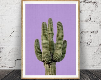 Cactus pourpre impression, mexicain Wall Art, en Arizona, Decor de sud ouest, affiche imprimable, téléchargement numérique, impression plante cactus aztèque, botanique