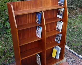 Mid-Century Teak Open Bookcase/CD/DVD, Teak Bookcase Display, Cabinet, Retro Bookcase