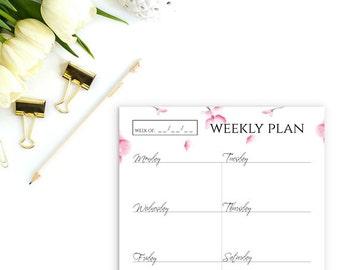 Printable planner pages, Teacher planner, Weekly planner, Planner inserts, A5 planner inserts, Daily planner printable