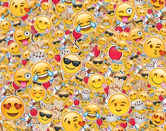 Emoji School book Cover - Digital Image - 8,75 x 11 inches (ideal for 8,5 x 11 inches size)