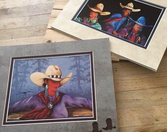 Doreman Burns Cowgirl Prints, Cowgirl Art, Signed Doreman Burns Cowgirl Prints