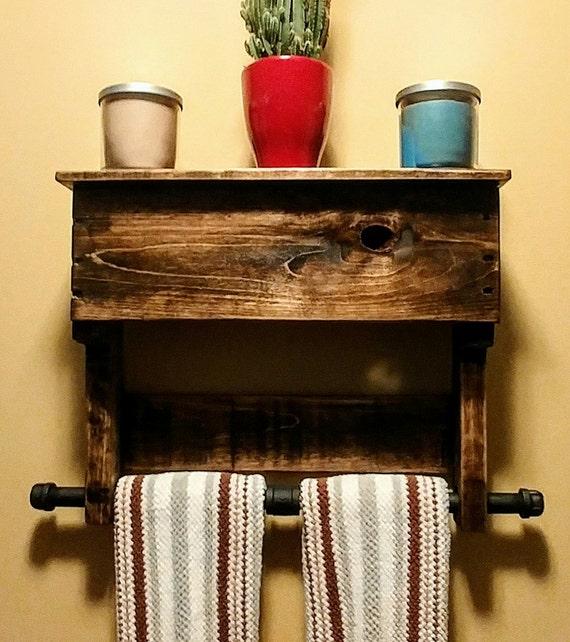 items similar to rustic towel rack pallet wood industrial. Black Bedroom Furniture Sets. Home Design Ideas
