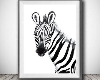 Zebra Wall Decor | Etsy