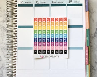 Middle Finger Icon Flags (72 Matte Planner Stickers)