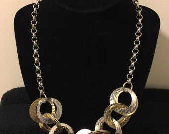 Vintage Silver And Gold Tone Necklace