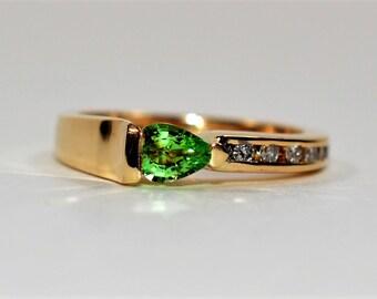 Mystical 1ct Paraiba Tourmaline Platinum Ring