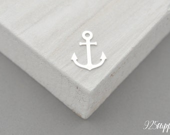 925 Sterling Silver Anchor Charm, Anchor Pendant, Silver Anchor, Small Anchor, Pendant, jewelery making, craft tools, semi-finished jewelery