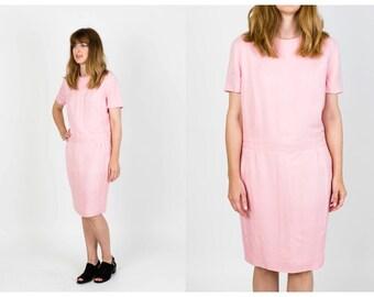 Vintage pink shift dress