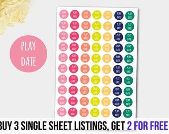 Playdate Stickers, Playground Stickers, Baby Stickers - Fits  Alll Planners