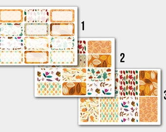 Autumn Half Box Life Planner, Erin Condren, Scrapbooking, Sticker Set