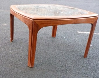 Vintage  G PLAN Teak COFFEE Table Glass Top 1960s Mid Century Modern