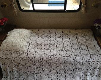 Queen crocheted blanket
