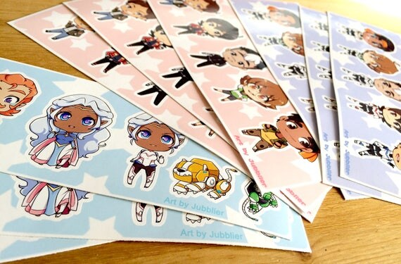 Voltron Sticker Sheets