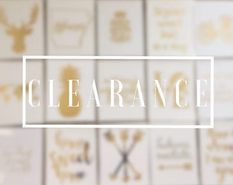 CLEARANCE SALE FREE shipping foil print choose your print by number