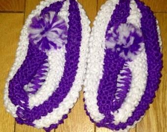 Knit Slippers for Women - Phentex Slippers - Knitted Slippers - Slippers - Handmade Knit Slippers - Checkerboard Slippers - Ladies Slippers