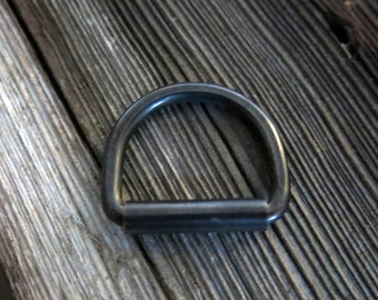 Gun Metal Blue Copper D-Ring