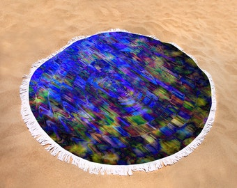 Round Beach/Picnic Towels - Ray of Light