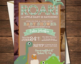 Dinosaur Baby Shower Invitation, Dinosaur Invitation,Dinosaur Baby Shower, Baby Shower Invitation, Roar Baby Shower,Dinosaur Baby Invitation