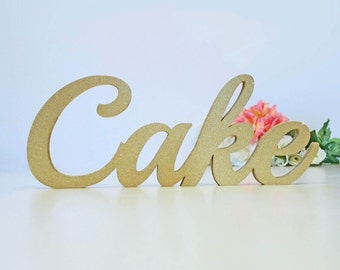 Elegant Cake Table Sign for Wedding Gift Table, Reception Sign, Wedding Decoration; Event Decor; 1/2 thick, Soirée Collection  [CS02]