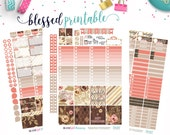 Erin Condren // Blessed and Thankful Weekly Kit // Printable Planner Stickers // Cut Line Files // Silhouette // Planner Printable