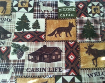 Log Cabin Fleece Throw