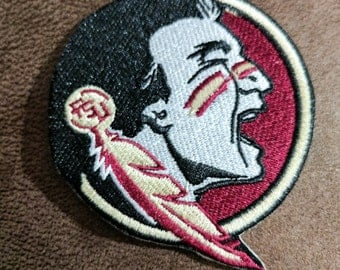 """Florida State Seminoles Iron On Patch 3"""" Free Shipping"""