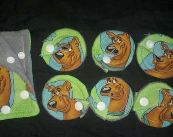 Gtube GJ PEG Button Gastrointesinal Medical Pads Cover - set of 6 w/port cover - Scooby-Doo - Made Ready to Ship