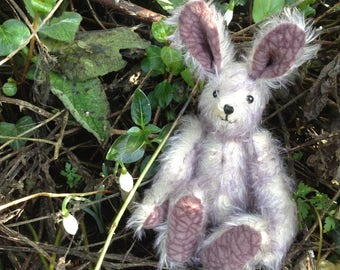 Amelia, a hand sewn mohair collector's artist hare