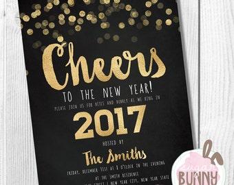 new years eve invite | etsy, Party invitations