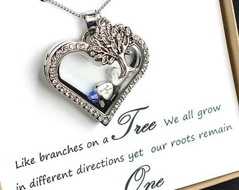 Mothers family tree necklace,Personalized Necklace mothers gift for grandma gifts for mom necklace,Mothers day birthstone necklace,