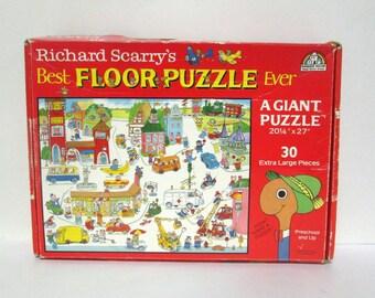 Richard Scarry's Best Floor Puzzle Ever Giant Busytown 1989 Random House