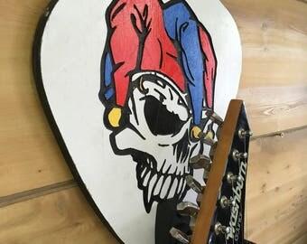 Guitar Wall Hanger - Jester Skull