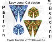 Blue patterns, Triangle Peyote pattern, Space patterns, Sapphire pattern, Geometric patterns, Peyote stitch, Beading patterns, Beadwork