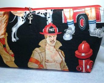Hot Fireman bag, Project hunky bag, Crochet fire bag, Travel bag fire