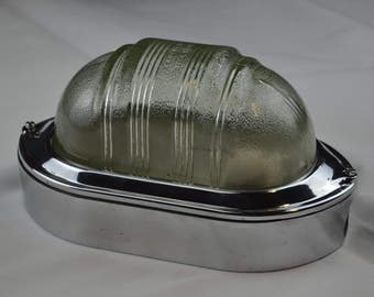 VIntage Polished COUGHTRIE Bulkhead Lamp
