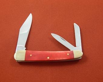 Vintage Pocket Knife Red Handles