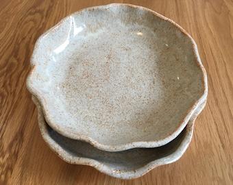 Pair of Ceramic Fluted Plates
