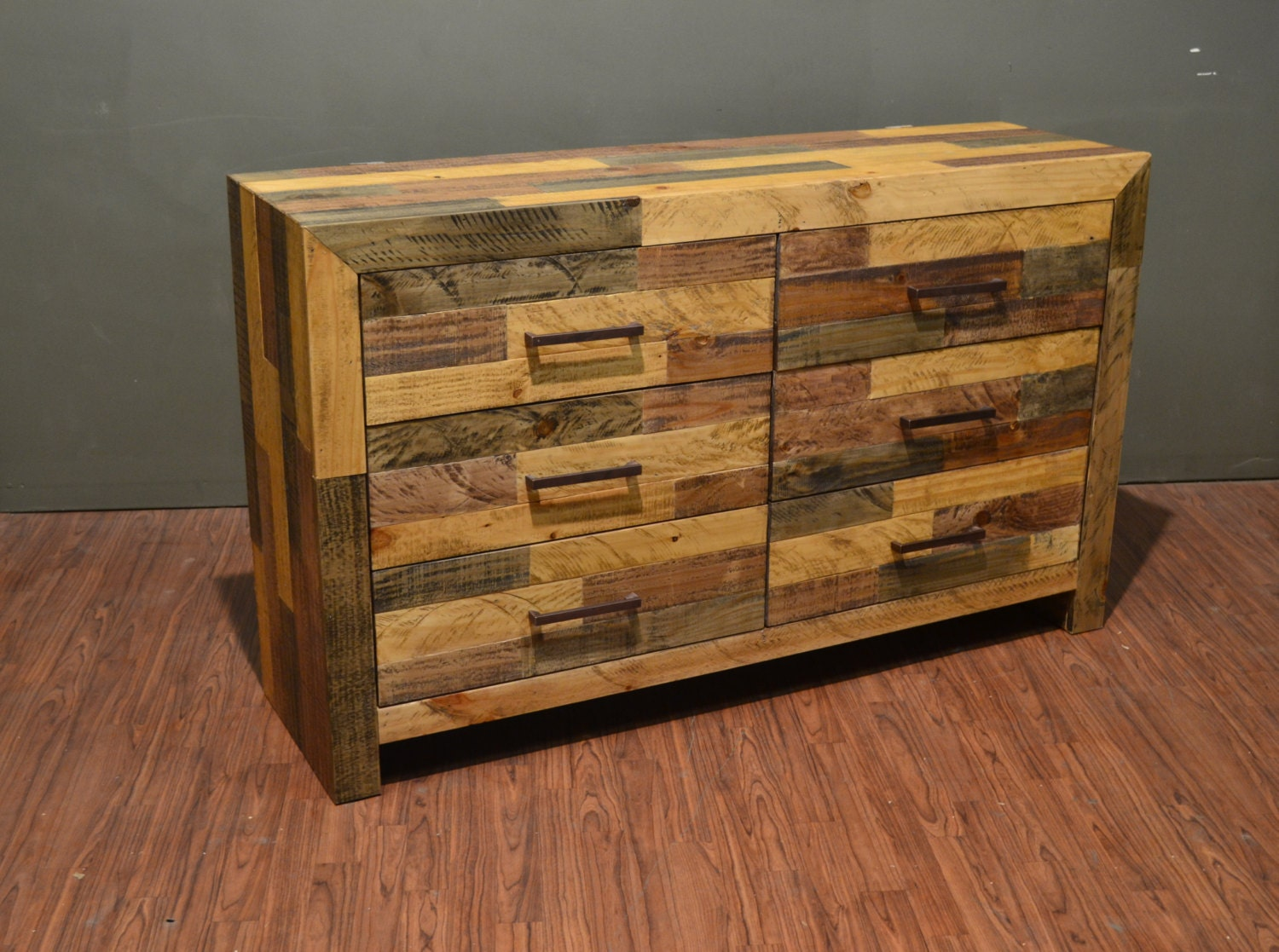 #AC781F Rustic Solid Wood 36 Drawer Lateral Dresser / Chest Of Drawers with 1500x1117 px of Best Chest Of Drawers Solid Wood 11171500 image @ avoidforclosure.info