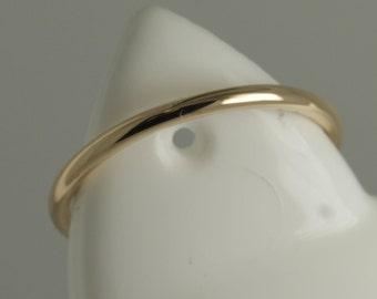 18ct rose gold 1.5mm halo ring / Wedding ring / wedding band / engagement ring / slim ring / thin ring / woman's / 1.5mm band