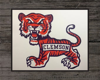 Clemson Tigers Painting