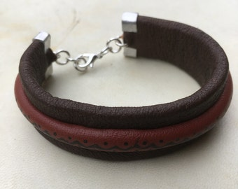 Pure Handmade leather bracelet RLW731