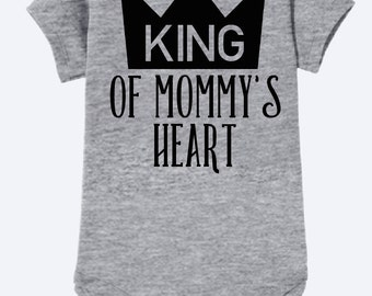 King of Mommy's Heart baby onsie