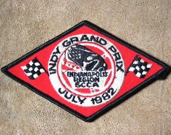 Vintage Indy Grand Prix Iron-on/Sew On 1982 Patch