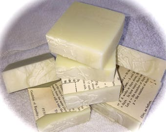 "Cold Process, vegetable oil, soap.  Scent is ""Lily of the valley"""