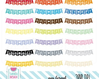 Day Off Clipart. Planner Stickers Clipart. Personal and comercial use.