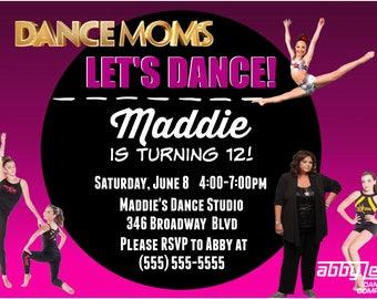 Personalized Dance-Moms Birthday Invitation [JPEG]