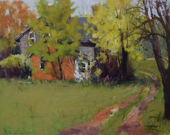 Plein air Painting, Minnesota Farm, Oil Landscape