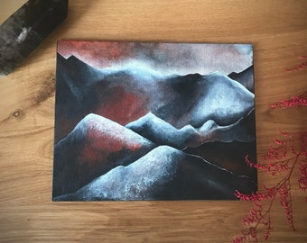 From Within. Original Painting. Mountain Painting.